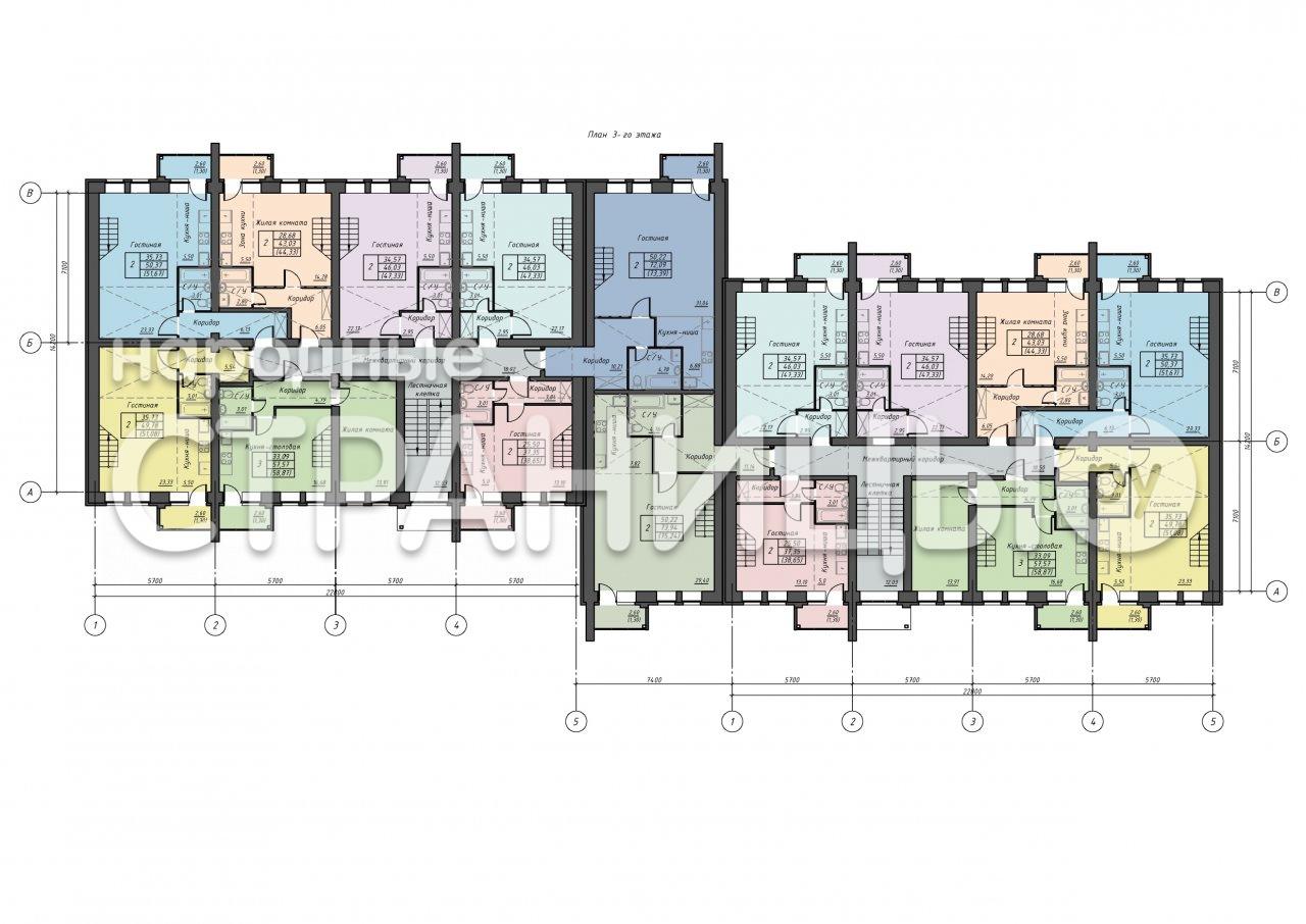 2-комнатная квартира, 38.65 м²,  3/3 эт. Кирпичный дом