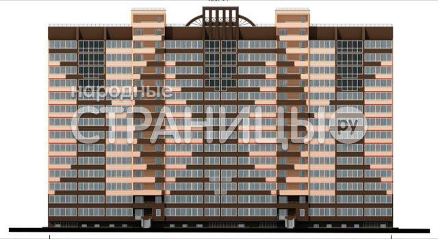 2-комнатная квартира, 59.74 м²,  3/15 эт. Кирпичный дом