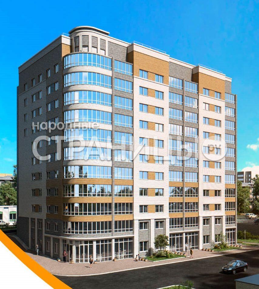 1-комнатная квартира, 50.9 м²,  2/10 эт. Кирпичный дом, Новостройка