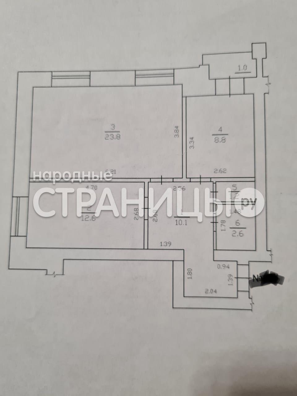 2-комнатная квартира, 62.0 м²,  7/9 эт. Кирпичный дом, Вторичное жилье