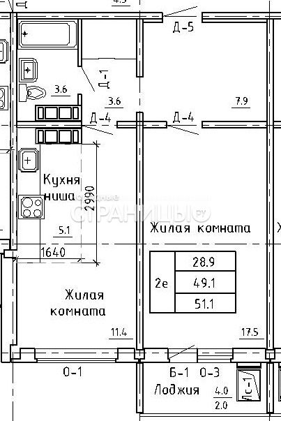 2-комнатная квартира, 51.0 м²,  3/16 эт.  дом, Новостройка