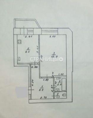 1-комнатная квартира, 39.0 м²,  1/10 эт. Кирпичный дом, Вторичное жилье