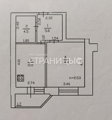 1-комнатная квартира, 35.7 м²,  6/10 эт. Кирпичный дом, Вторичное жилье