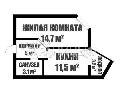 1-комнатная квартира, 34.3 м²,  8/10 эт. Кирпичный дом, Вторичное жилье