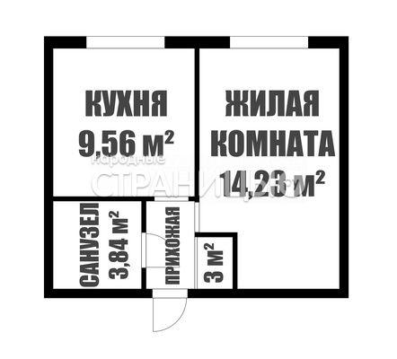 1-комнатная квартира, 30.6 м²,  2/3 эт. Кирпичный дом, Вторичное жилье