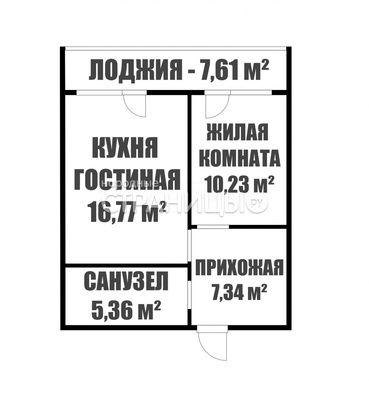 2-комнатная квартира, 39.8 м²,  3/18 эт. Панельный дом, Вторичное жилье